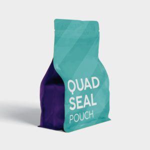 Quad Seal Pouch Coffee Packaging