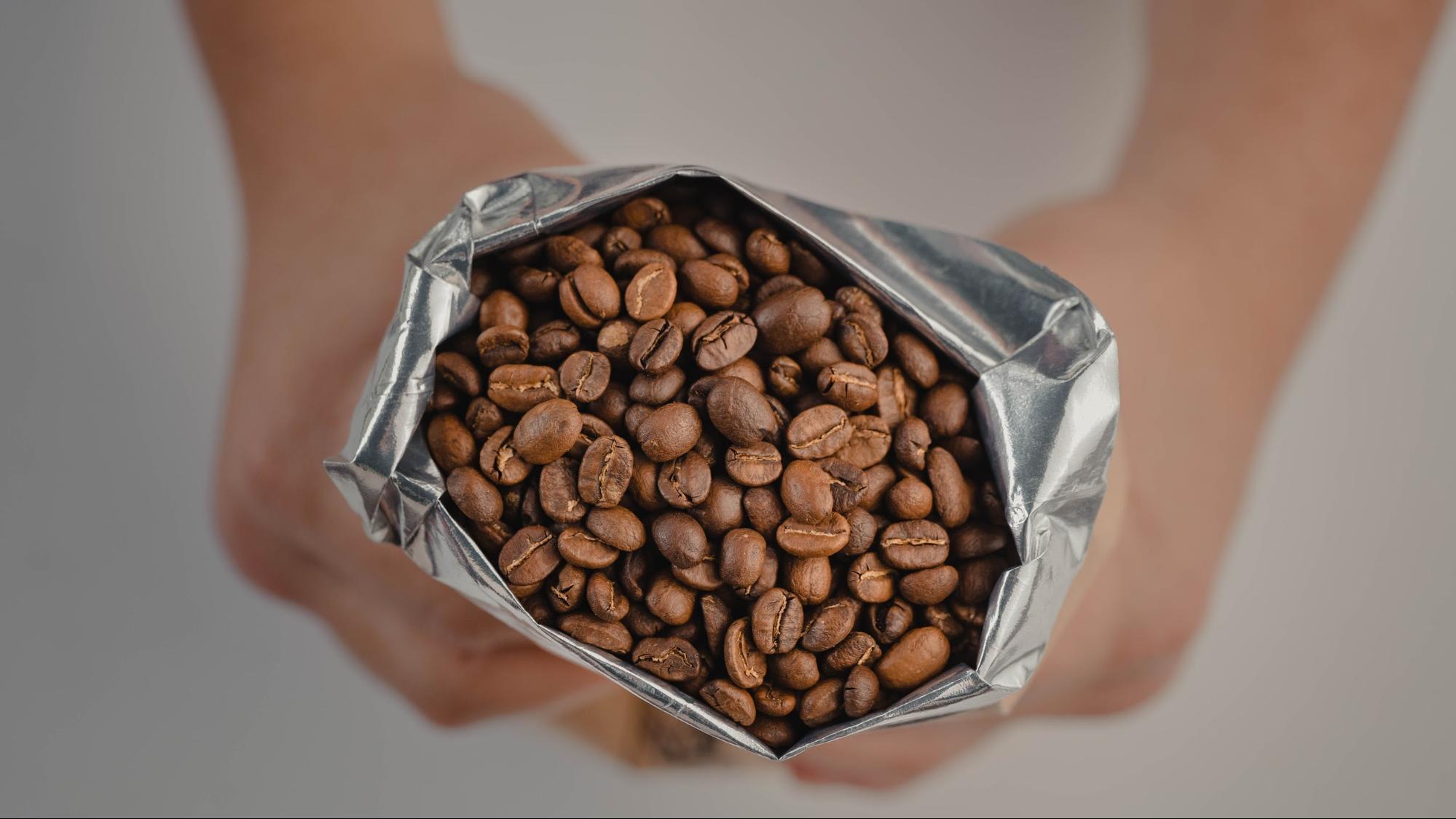 open coffee packaging