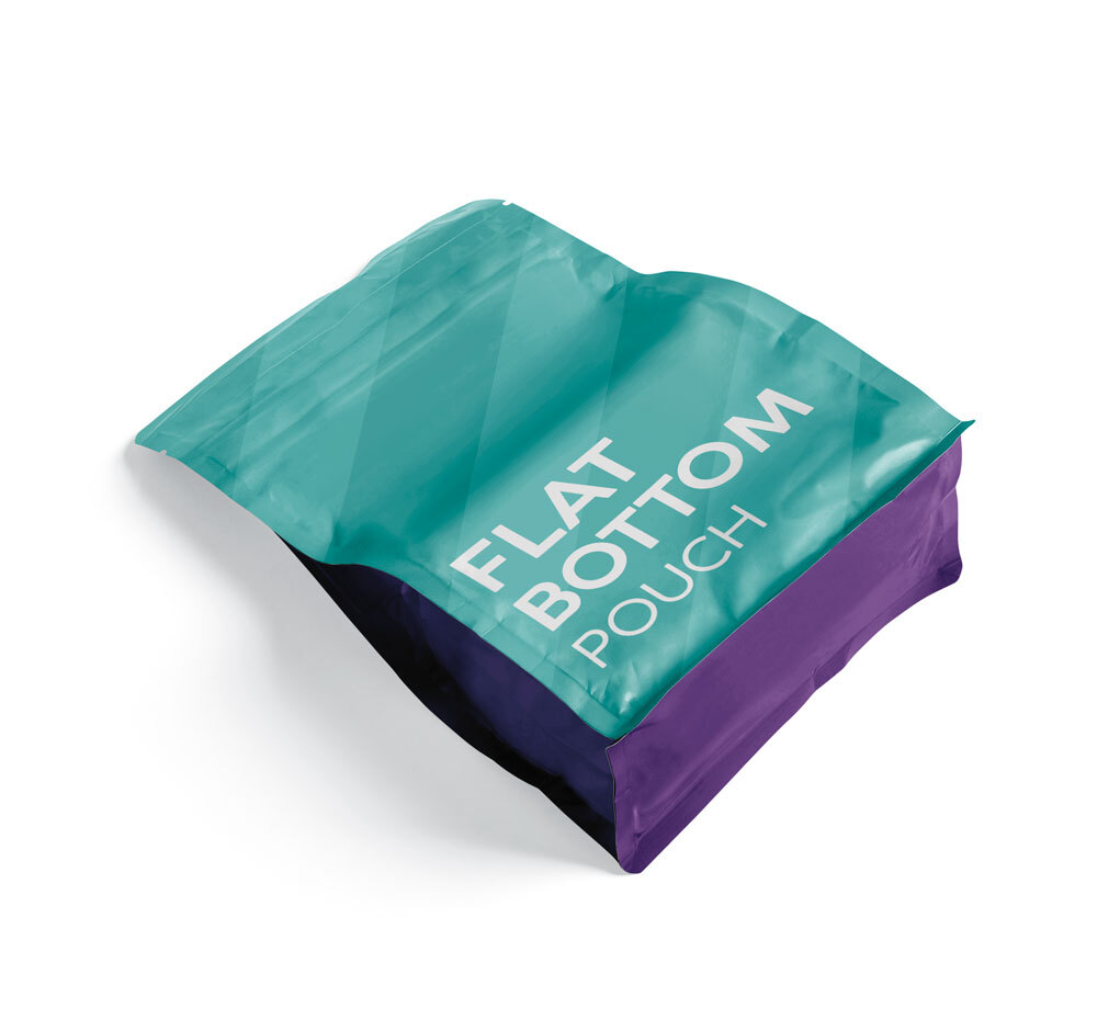 Bolsa para café tostado con fondo plano
