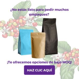 Pide nuestras bolsas para café tostado de bajo MOQ