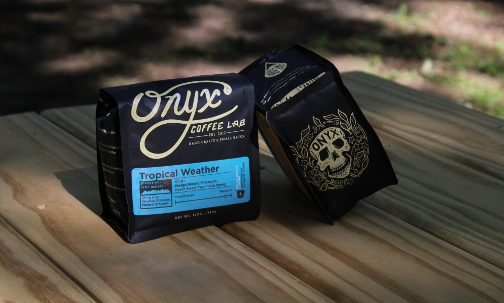 typography on coffee packaging